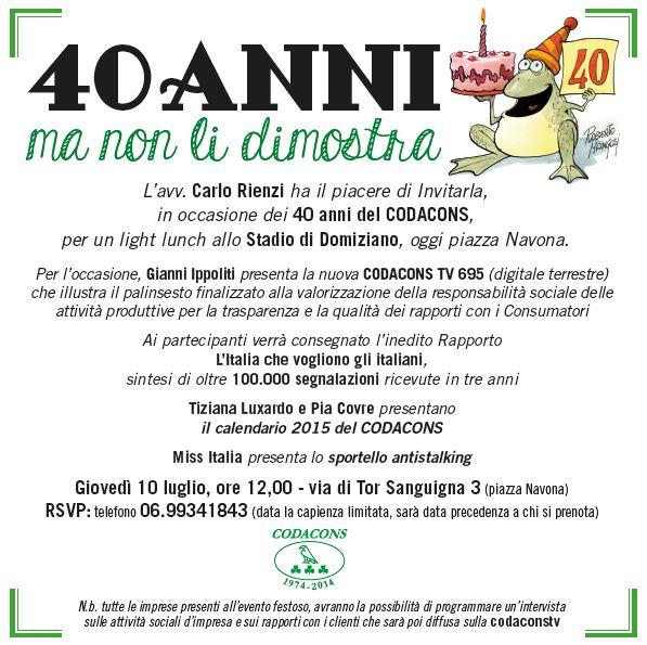 Amato Stadio di Domiziano | Evento 40 Anni del Codacons - Stadio di  MO48